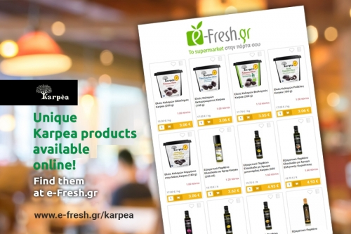 Unique Karpea products from e-fresh.gr with one click to your door!