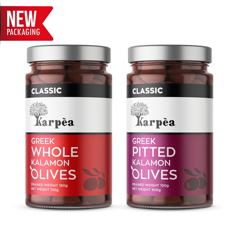 Karpea Greek Kalamata Olives (Kalamon)